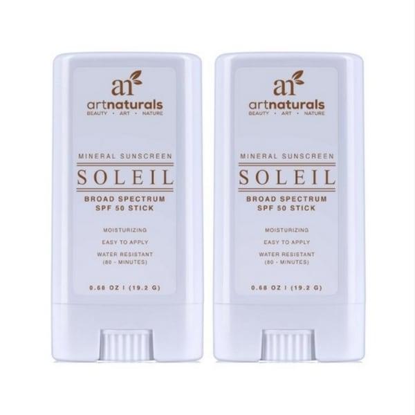 artnaturals SPF 50 Water Resistant Sunscreen Stick (Set of 2)