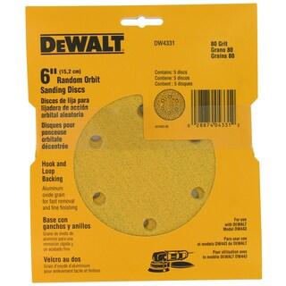 """Dewalt DW4331 6"""" 80 Grit Random Orbit Sanding Discs"""