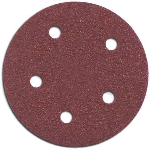 "Porter Cable 735501805 5"" 180 Grit Hook & Loop Abrasive Discs 5-count"