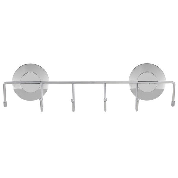 Everloc Push N' Loc Suction Cup Towel Holder with Chrome Cover