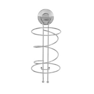 Everloc Push N' Loc Stainless Steel Suction Cup Hair Dryer Holder