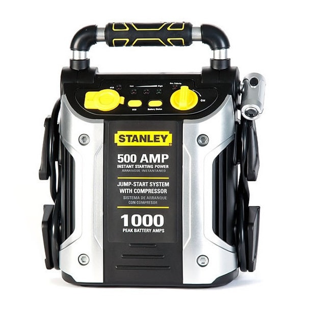 Stanley 500-amp Jump Starter with Compressor (Silver and ...