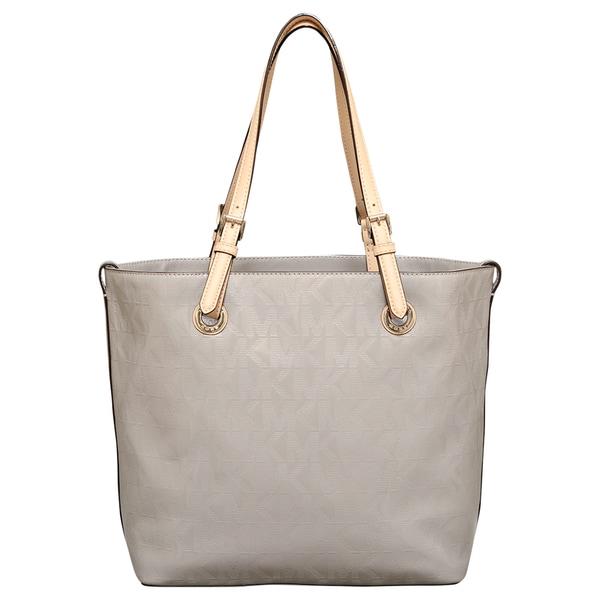 86917557ba1d Shop MICHAEL Michael Kors Signature Leather Ash Grey Grab Bag Handbag -  Free Shipping Today - Overstock - 12378682