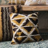 Printed Gold Multi Geometric Abstract 18-inch Throw Pillow or Pillow Cover