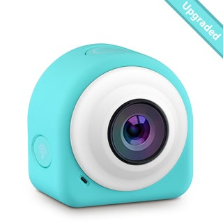 Blue/White 8-megapixel Mini Action Camera