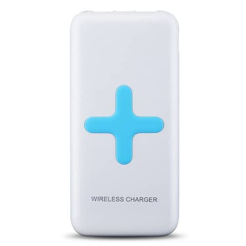 Wireless Charger Power Bank with Dual USB Charging Ports for Samsung Galaxy and Other Android Devices
