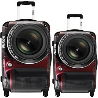 iKase 'Camera Nikon' 2-piece Fashion Harside Spinner Luggage Set