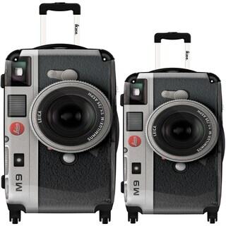 iKase 'Camera Leica' 2-piece Fashion Harside Spinner Luggage Set