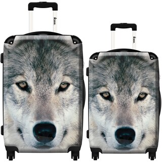 iKase 'Grey Wolf' 2-piece Fashion Harside Spinner Luggage Set
