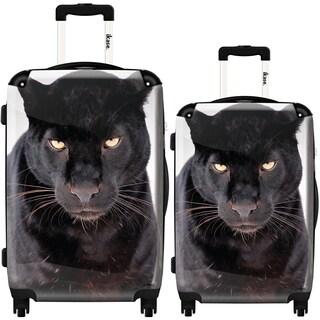 iKase 'Asia Black Panther' 2-piece Fashion Harside Spinner Luggage Set