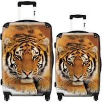 iKase 'Tiger' 2-piece Fashion Harside Spinner Luggage Set