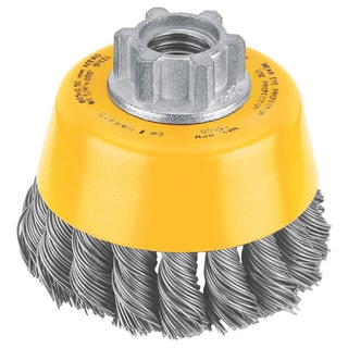 "Dewalt DW4910 3"" Knotted Steel Cup Wire Brush"