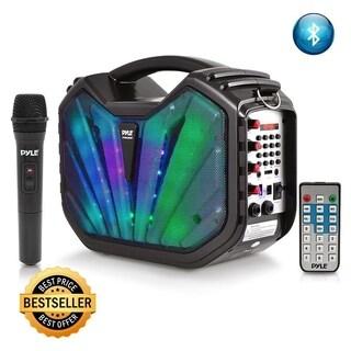 Pyle Portable Wireless Bluetooth Karaoke Speaker System