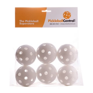 PickleballCentral 6 Pack White Jugs Indoor Pickleball