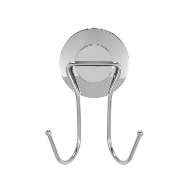 Everloc Push N' Loc Stainless Steel Suction Cup Double Hook