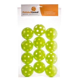 PickleballCentral 12 Pack Green Jugs Indoor Pickleball