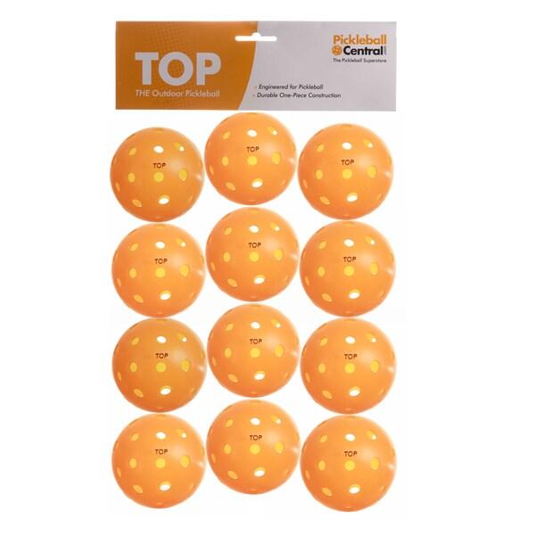 PickleballCentral 12 Pack Orange TOP Outdoor Pickleball