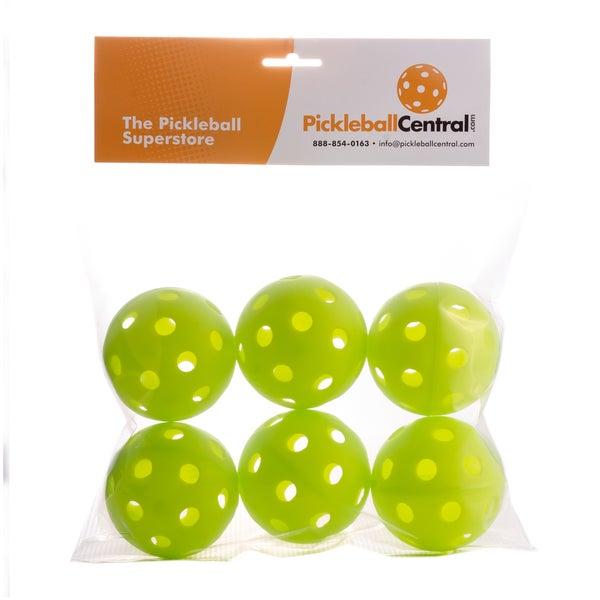 PickleballCentral 6 Pack Green Jugs Indoor Pickleball