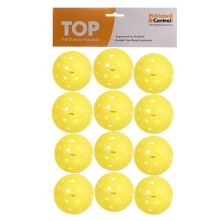 PickleballCentral 12 Pack Yellow TOP Outdoor Pickleball