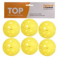 PickleballCentral 6 Pack Yellow TOP Outdoor Pickleball