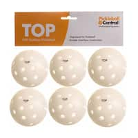 PickleballCentral 6 Pack White TOP Outdoor Pickleball