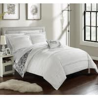 Chic Home Atticus White Duvet Cover 4 Piece Set