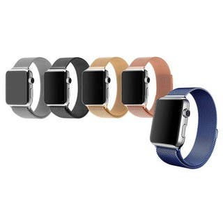Tribeca Milanese Mesh With Magnet Closure Replacement Bracelet for Apple Watch|https://ak1.ostkcdn.com/images/products/12379001/P19202394.jpg?impolicy=medium