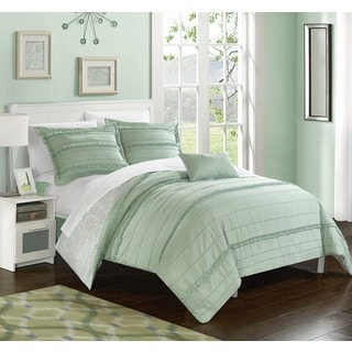 Chic Home Atticus Green Duvet Cover 4 Piece Set