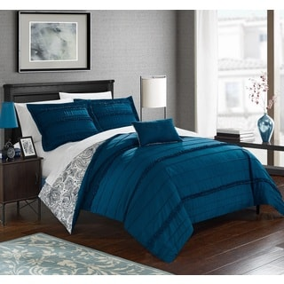 Chic Home Atticus Blue Duvet Cover 4 Piece Set