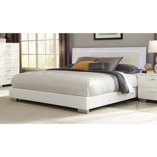 Coaster Company Felicity White LED Lighting Platform Bed