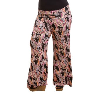 Sealed with a Kiss Women's Plus Size Printed Jersey Palazzo Pants