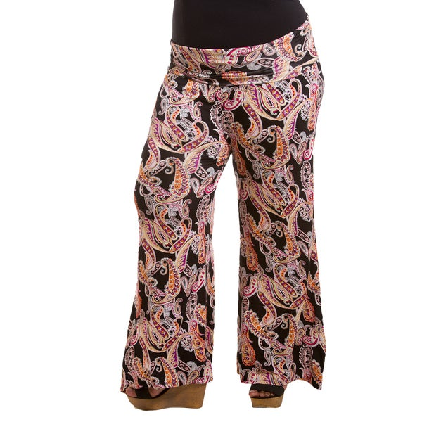 0c264479681 Shop Sealed with a Kiss Women s Plus Size Printed Jersey Palazzo Pants -  Free Shipping Today - Overstock.com - 12379049