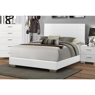 Felecity White Wood Bed