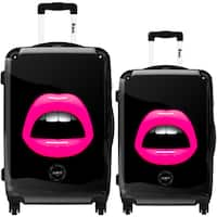 iKase 'Pink Lips' 2-piece Fashion Harside Spinner Luggage Set