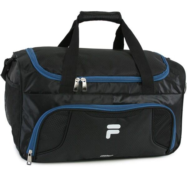 5c8eb9d1e0ab Shop Fila Racer Nylon Small Travel Gym Sport Duffel Bag - Free ...