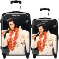 iKase 'Elvis Presley 20' 2-piece Fashion Harside Spinner Luggage Set