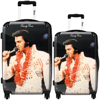 iKase 'Elvis Presley 20' 2-piece Fashion Harside Spinner Luggage Set