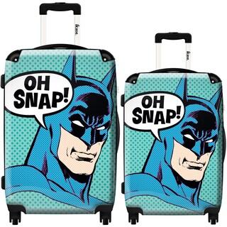 iKase 'Batman Oh Snap' 2-piece Fashion Harside Spinner Luggage Set