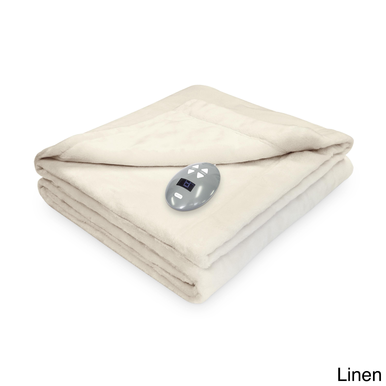 Perfect Soft Heat Velvet Plush Soft Heated Electric Blank...