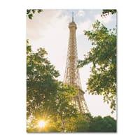 Ariane Moshayedi 'Eiffel Tower Sunset' Canvas Art