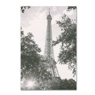 Ariane Moshayedi 'Eiffel Tower BW' Canvas Art
