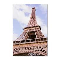 Ariane Moshayedi 'Eiffel Tower from Below' Canvas Art