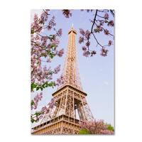 Ariane Moshayedi 'Eiffel Tower in Spring' Canvas Art