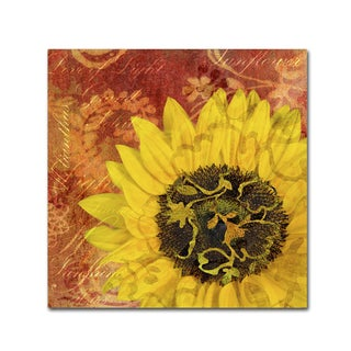 Cora Niele 'Sunflower - Love of Light' Canvas Art