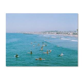 Ariane Moshayedi 'Newport Beach Surfers' Canvas Art