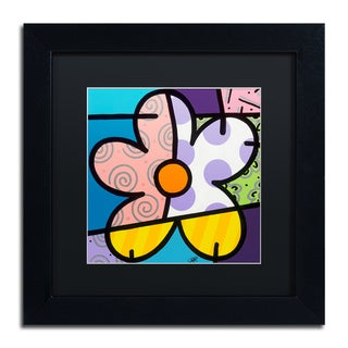 Roberto Rafael 'Big Flower IV' Matted Framed Art