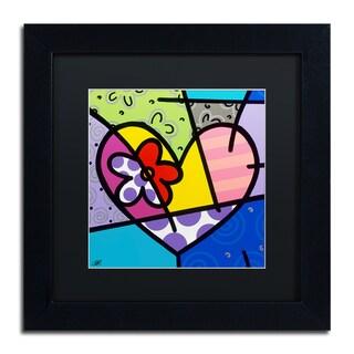 Roberto Rafael 'Big Heart III' Matted Framed Art