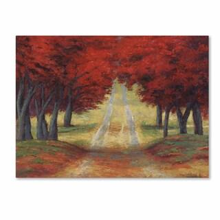 Daniel Moises 'Autumn Pathway' Canvas Art