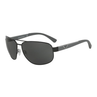 Emporio Armani Men's EA2036 300187 Black Metal Pilot Sunglasses