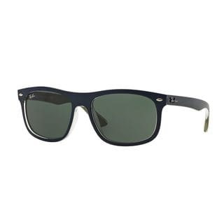 Ray-Ban Men's RB4226F Blue Plastic Rectangle Sunglasses